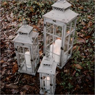 Lot de 3 Lanternes Bois