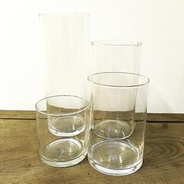 Lot de 4 Vases Cylindriques