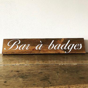 Bar à badges