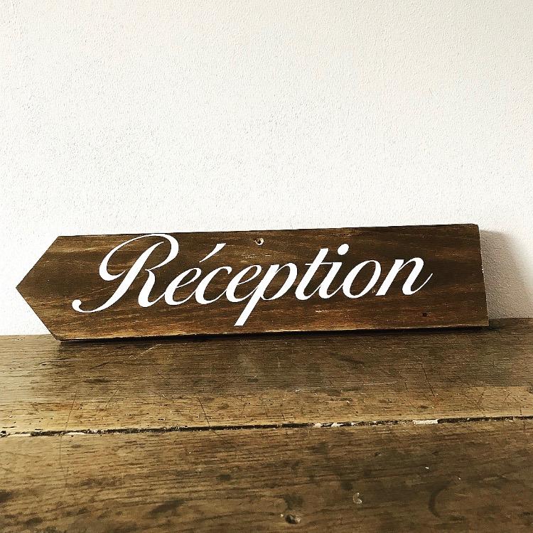 Panneau réception