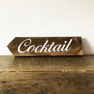 Panneau cocktail gauche