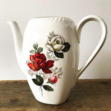 Théière vintage Rose