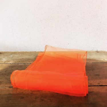Nœud en organza orange