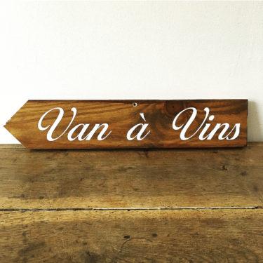 """Panneau """"Van à vins"""" Gauche"""