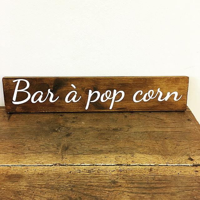 Panneau Bar à Popcorn