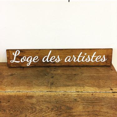 Panneau Loge des Artistes