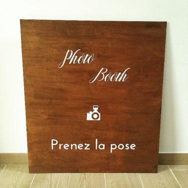 """Panneau """"Prenez la pose"""""""