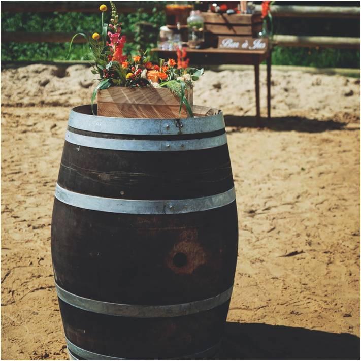Caisse en Bois PM Tonneau Vintage