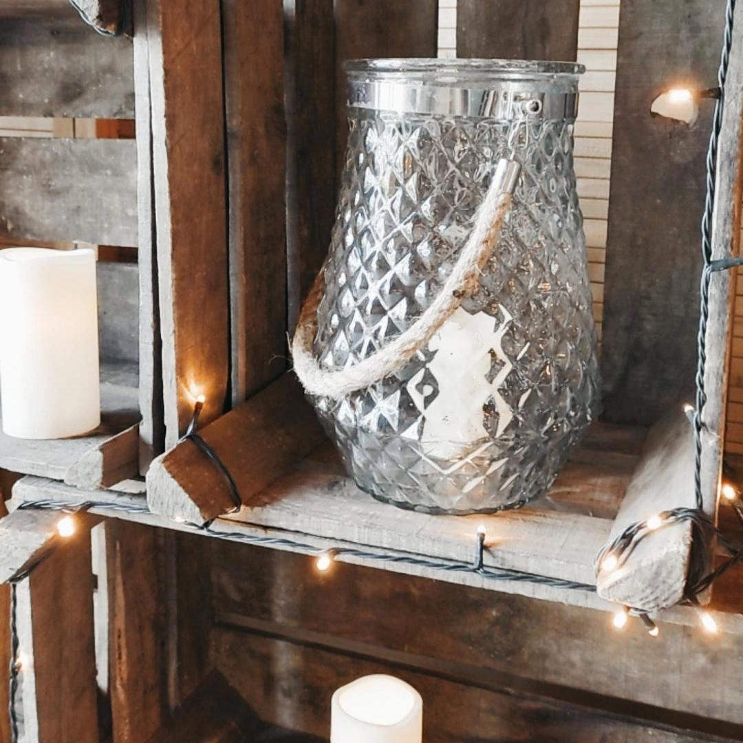 Lanterne Gaufrée Géométrique
